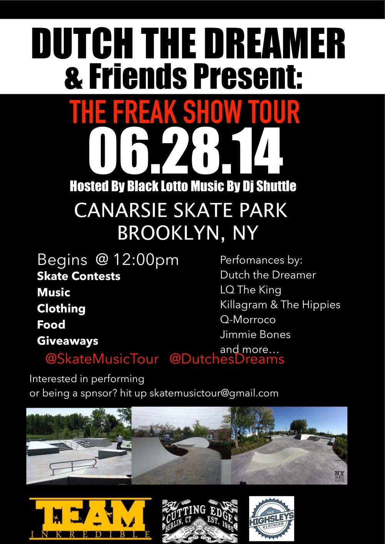 FREAK SHOW TOUR CANARSIE PARK JUNE 28TH 2014